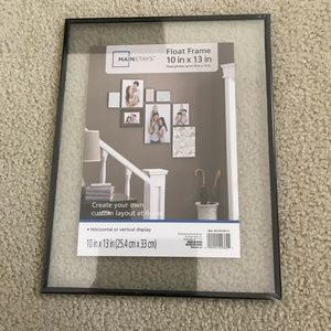 """Mainstays Glass Floating Frame 10"""" x 13"""" NEW"""